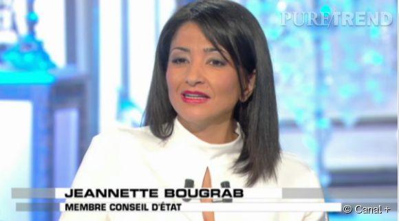 """Jeannette Bougrab sur le plateau de """"Salut les Terriens"""" sur Canal+."""