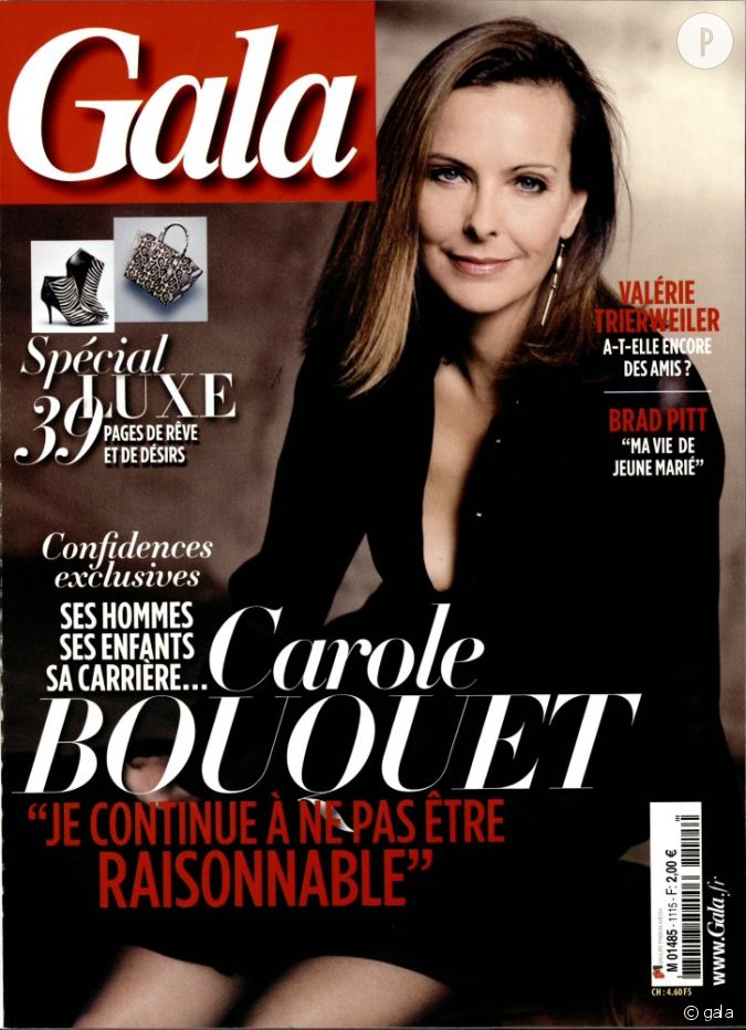 carole bouquet dans le magazine gala cette semaine. Black Bedroom Furniture Sets. Home Design Ideas