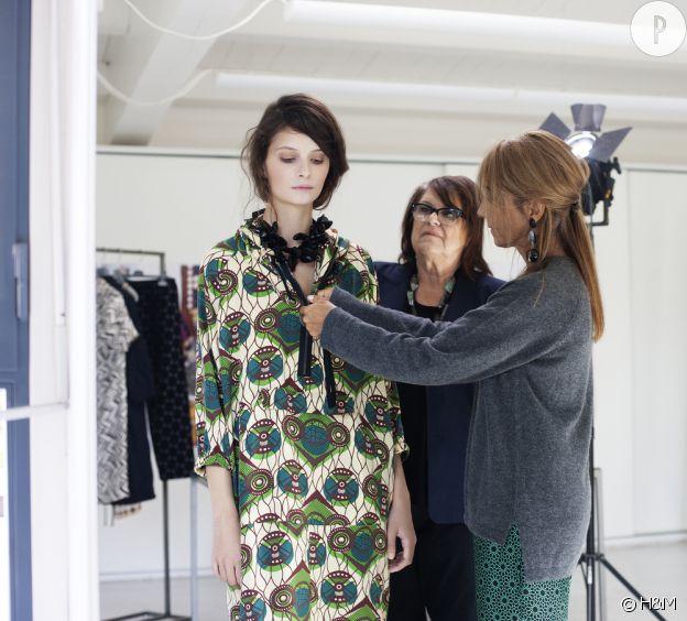 Consuelo Castiglioni, directrice de la création chez Marni et Margareta van den Bosch, Conseillère de la Création chez H&M lors de la collaboration H&M et Marni en 2012.