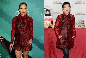 Jennifer Lopez vs Kris Jenner : la robe léopard sexy