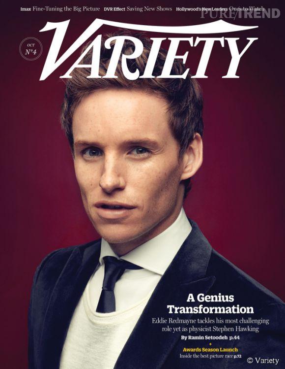 """En pleine promotion du film """"The Theory of Everything"""", le biopic sur Stephen Hawking, Eddie Redmayne se confie dans le dernier numéro de Variety."""