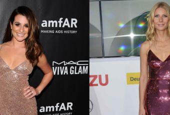 Lea Michele vs Gwyneth Paltrow : la robe à sequin ultra décolletée
