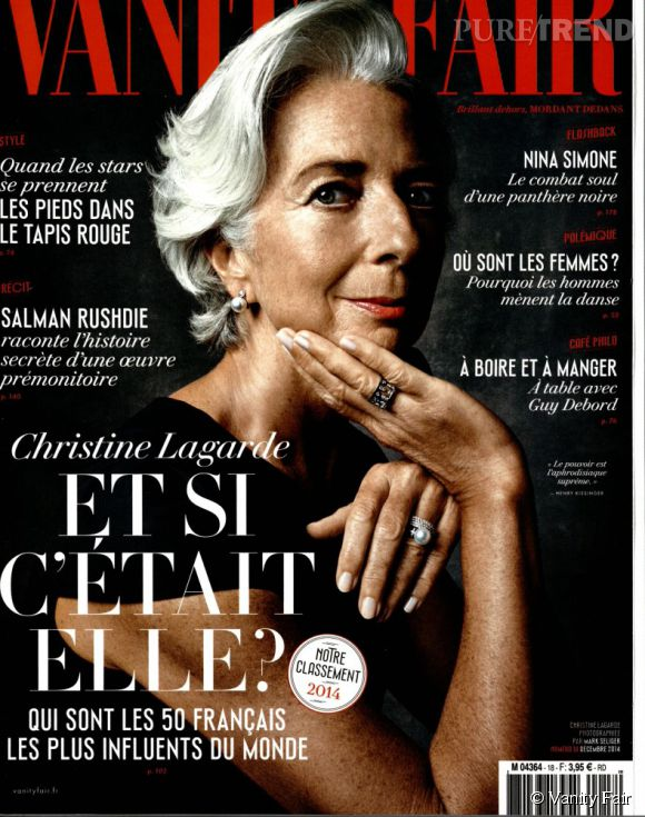 Christine Lagarde, personnalité française la plus influente du monde selon Vanity Fair (numéro de décembre), devant Luc Besson, Alain Ducasse et... François Hollande (à la 22e place).