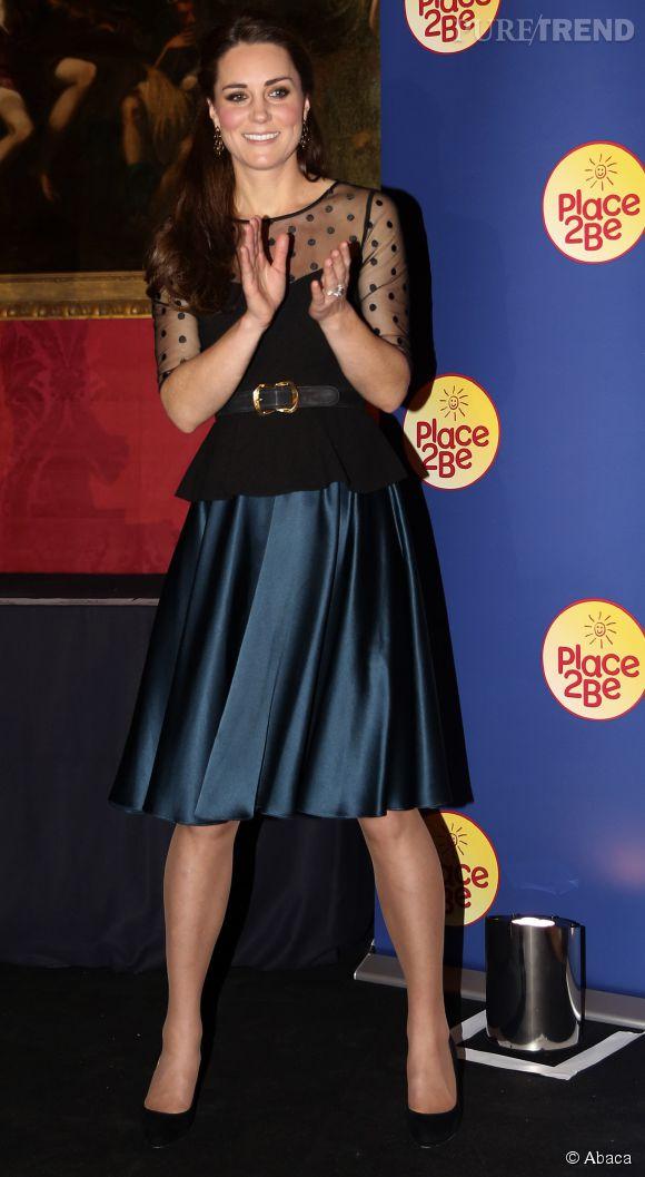 Kate Middleton aux Wellbeing in Schools Awards de l'association Place2Be à Londres le 19 novembre 2014.