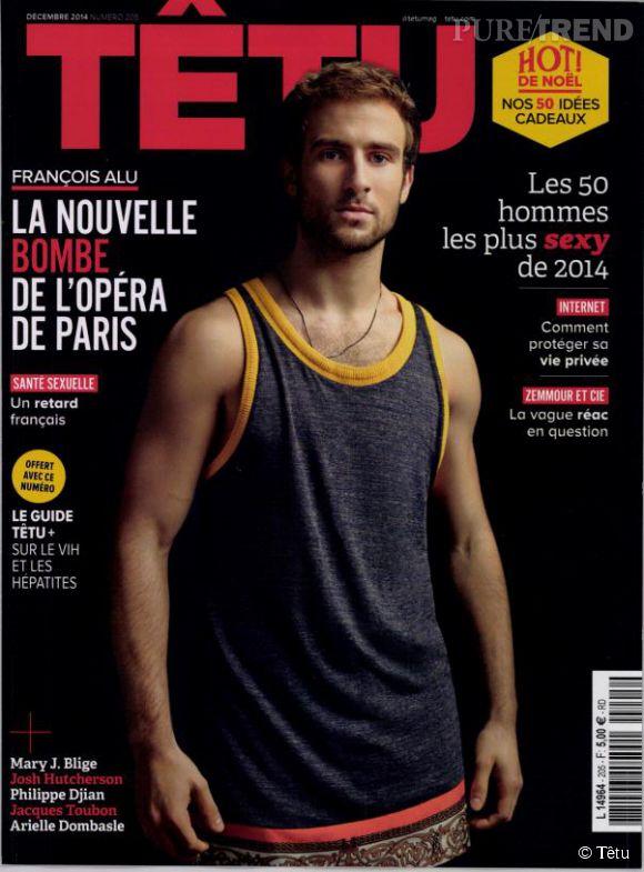 François Alu coverboy de Têtu et n°1 du classmeent des hommes les plus sexy de l'année.
