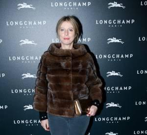 Karine Viard à l'inauguration de la boutique Longchamp sur les Champs-Elysées le 4 décembre 2014.