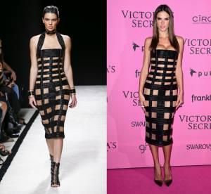 Kendall Jenner vs Alessandra Ambrosio: la robe bandage sexy Balmain