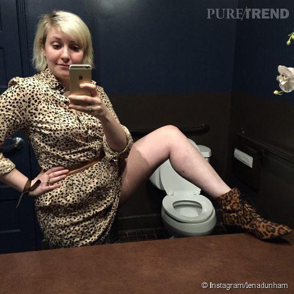Lena Dunham, toujours hyper classe sur ses photos.