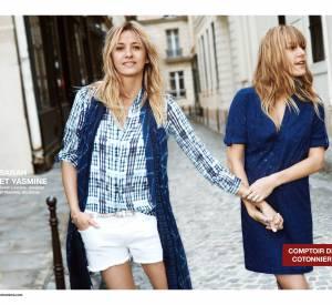 Campagne Printemps-Été 2015 Comptoir des Cotonniers avec Sarah Lavoine et sa fille Yasmine.