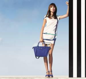 Campagne Printemps-Été 2015 Longchamp avec Alexa Chung.