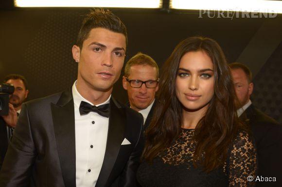 Irina Shayk et Cristiano Ronaldo lors du gala du FIFA Ballon d'Or 2013.
