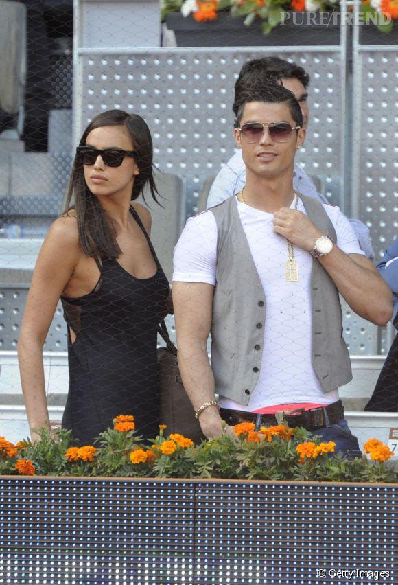 Irina Shayk et Cristiano Ronaldo faisaient aussi des apparitions moins officielles et toujours aussi complices comme au Madrid Open en 2013.