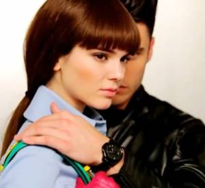Kendall Jenner et Baptiste Giabiconi dans la campagne des accessoires de la marque Karl Lagerfeld Printemps-Été 2015.