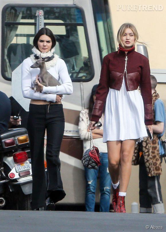 Kendall Jenner et Gigi Hadid se sont retrouvées pour un shooting pour le  Vogue  américain.
