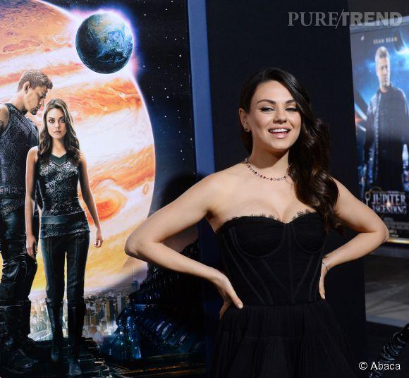 """Mila Kunis à la première de """"Jupiter : Le destin de l'Univers"""" à Los Angeles le 2 février 2015."""