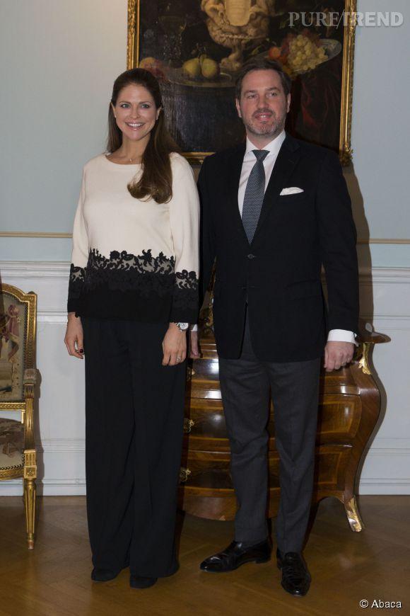 La princesse Madeleine et son mari le banquier Christopher O'Neill. Ils auront bientôt un deuxième enfant.