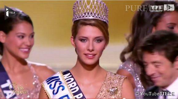 Camille Cerf est couronnée Miss France 2015 le 6 décembre 2014.