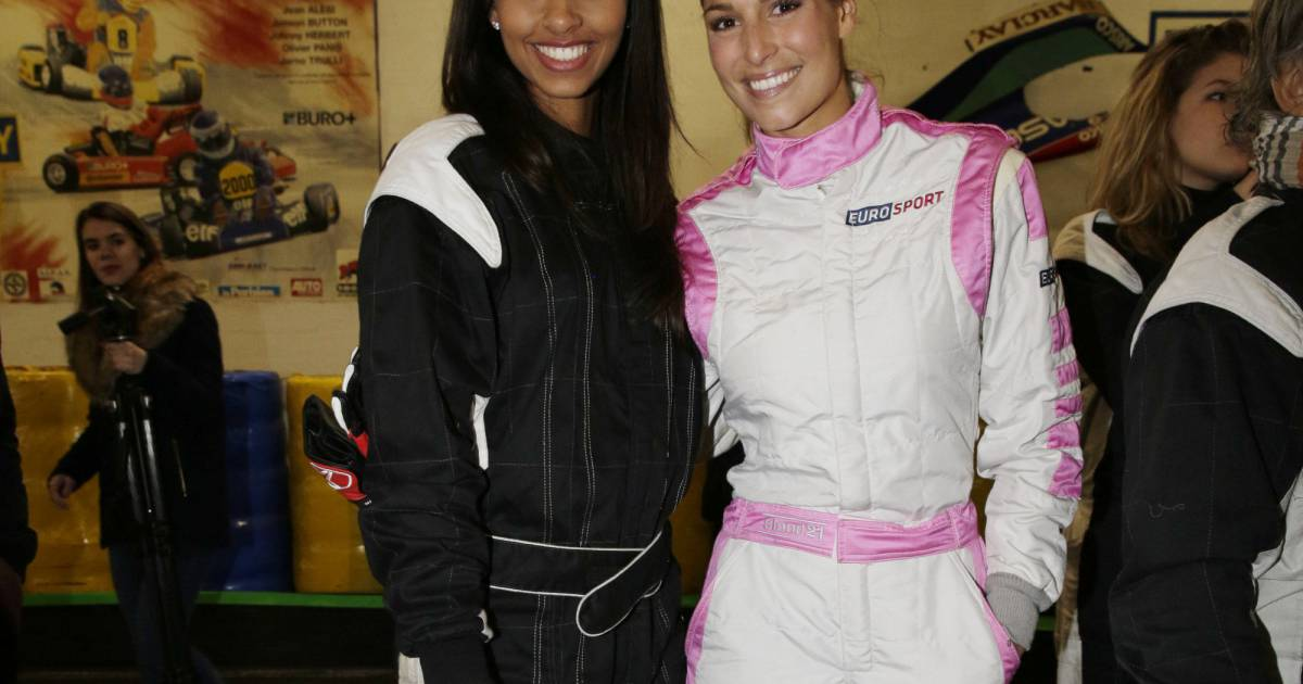 flora coquerel et laury thilleman se sont affront es hier sur le circuit du paris kart indoor. Black Bedroom Furniture Sets. Home Design Ideas