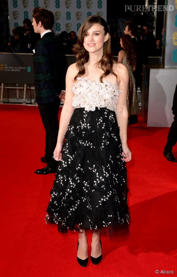 Keira Knightley aux BAFTA 2015 le 8 février 2015 à Londres.