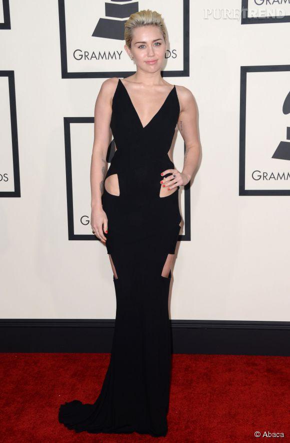 Miley Cyrus, sage - pour une fois - aux Grammy Awards.