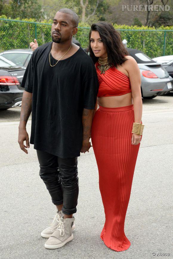 Kim Kardashian et Kanye West main dans la main... Il y avait vraiment de l'amour dans l'air aux Grammy !