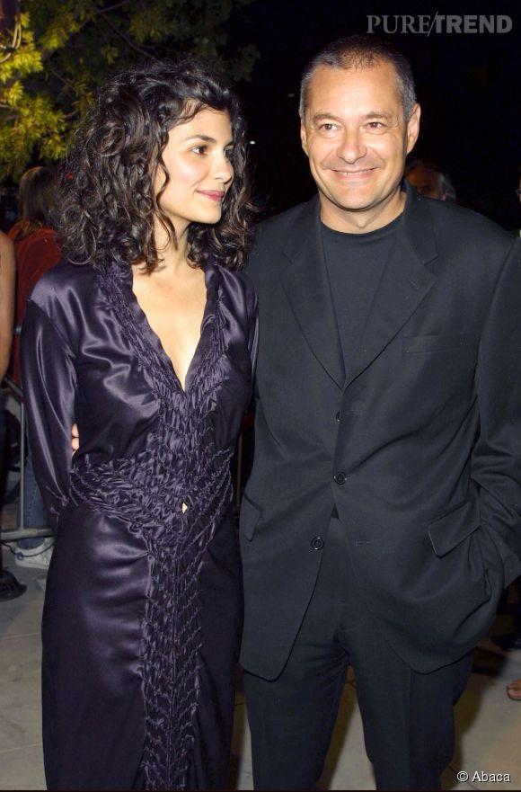 """Jean-Pierre Jeunet et Audrey Tautou, en octobre 2001, lors de la première du film """"Le Fabuleux destin d'Amélie Poulain"""" aux États-Unis."""