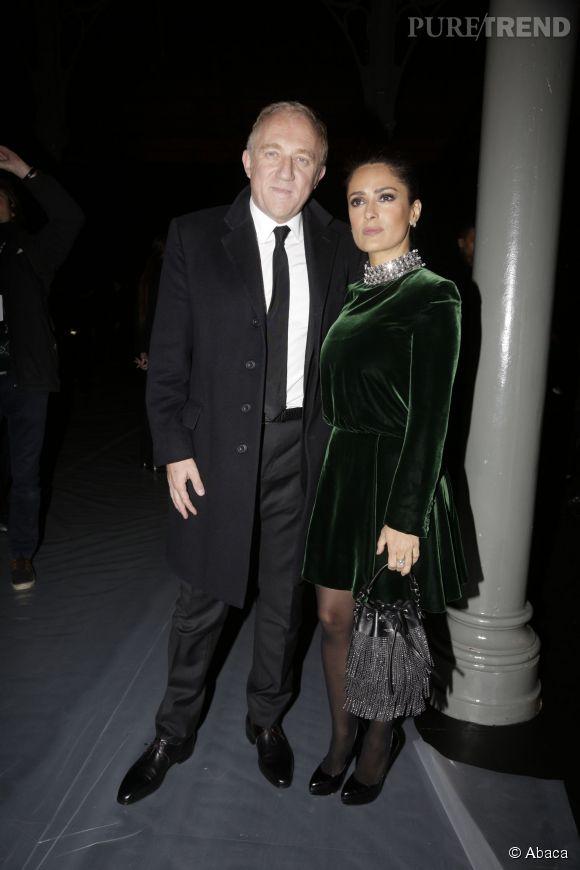 Salma Hayek-Pinault et son mari François-Henri Pinault.