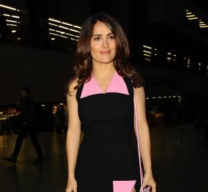 Salma Hayek, fendu osé pour la Fashion Week de Londres