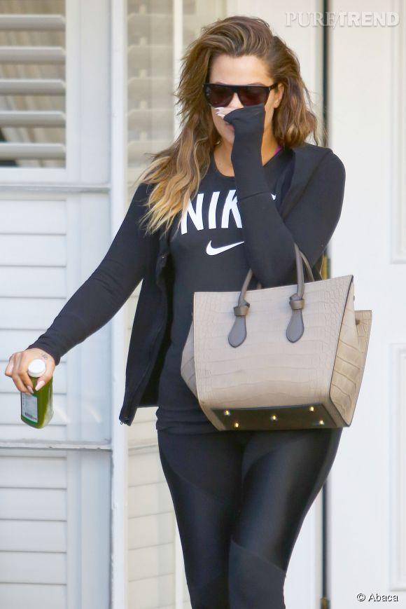 Khloe Kardashian a raison de se cacher : les injections ont déformé ses lèvres !