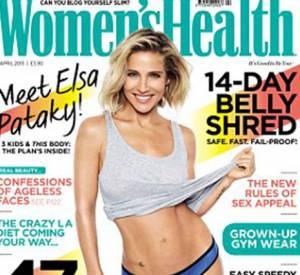 Elsa Pataky, une silhouette impeccable pour le magazine Women's Health UK, numéro d'avril 2015.