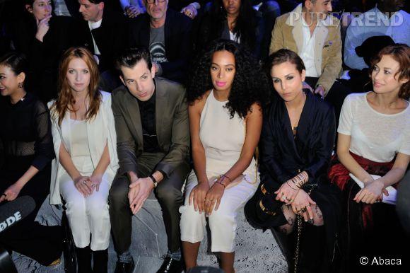 Noomi Rapace, Solange Knowles, Josephine De La Baume, Mark Ronson au défilé H&M Automne-Hiver 2015/2016.