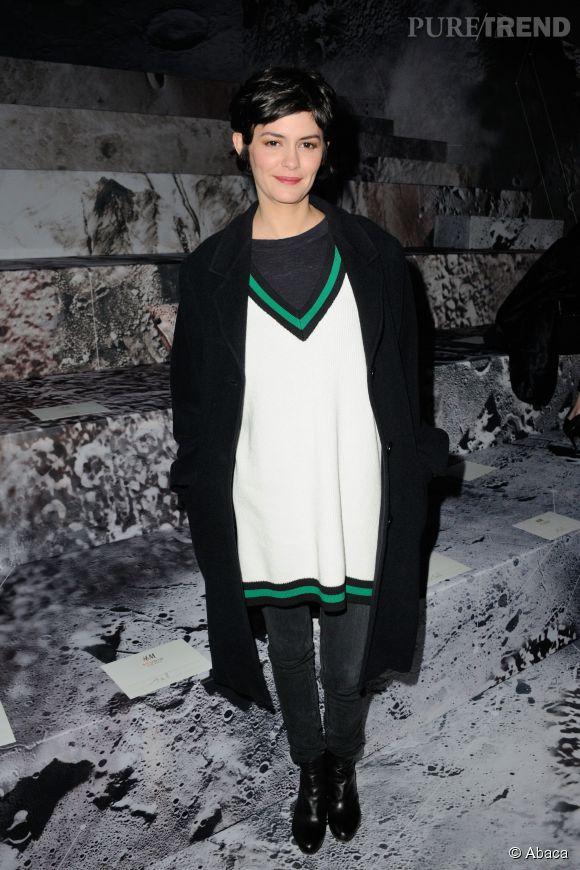 Audrey Tautou au défilé H&M Automne-Hiver 2015/2016.