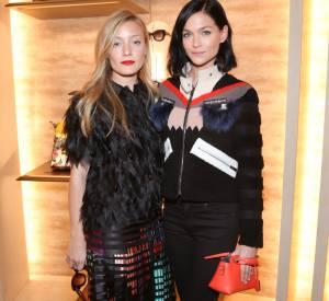 Kate Foley et Leigh Lezark lors de la soirée Thierry Lasry x Fendi à Paris le 9 mars 2015.