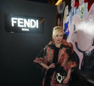Cécile Cassel lors de la soirée Thierry Lasry x Fendi à Paris le 9 mars 2015.