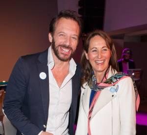"""Ségolène Royal et Samuel Le Bihan, invités au lancement de la campagne """"My positive impact""""."""