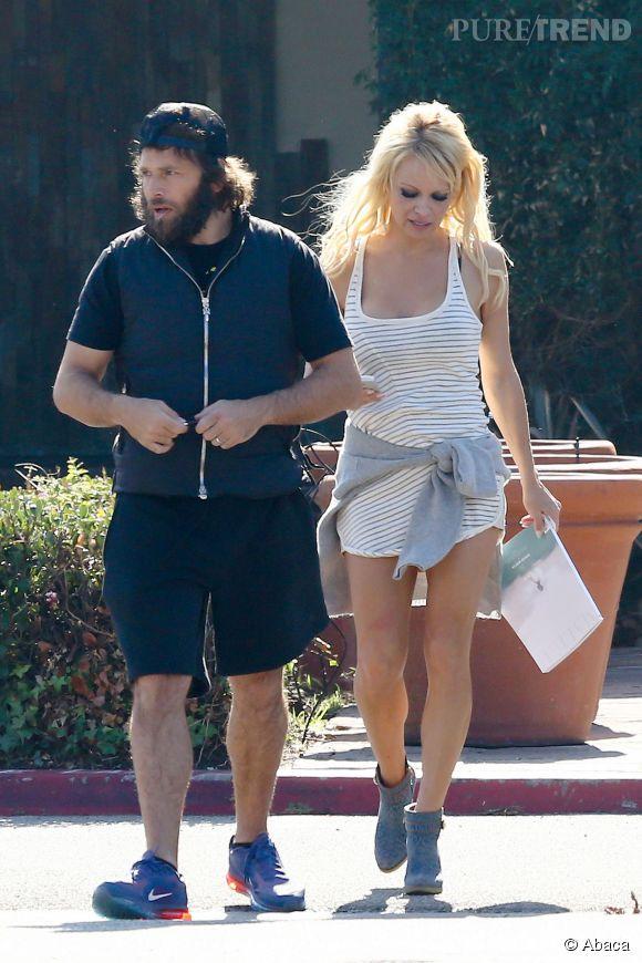 Pamela Anderson et Rick Salomon dans les rues de Los Angeles en janvier 2015. Il y avait déjà de l'eau dans le gaz...
