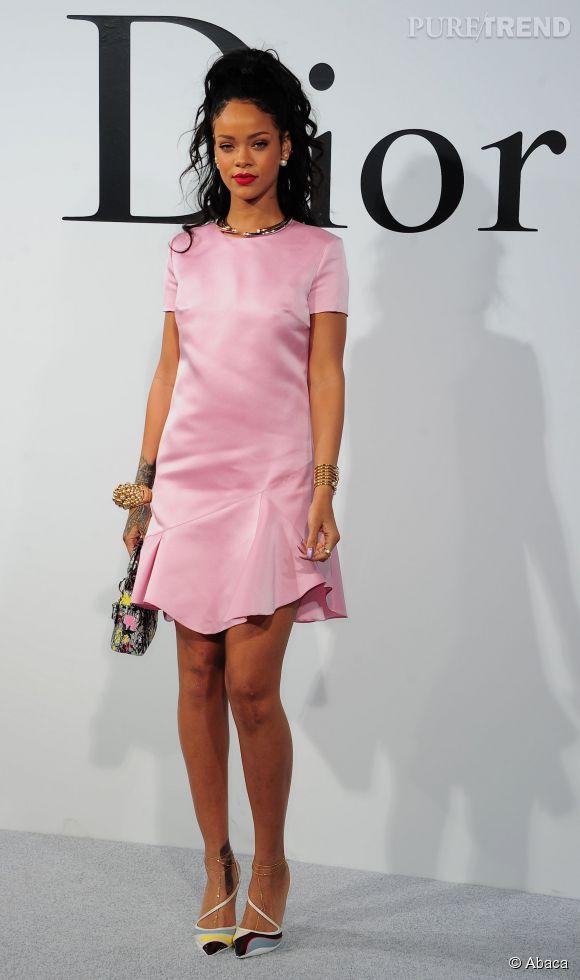 Rihanna au défilé Dior Croisière 2015 en mai 2014.