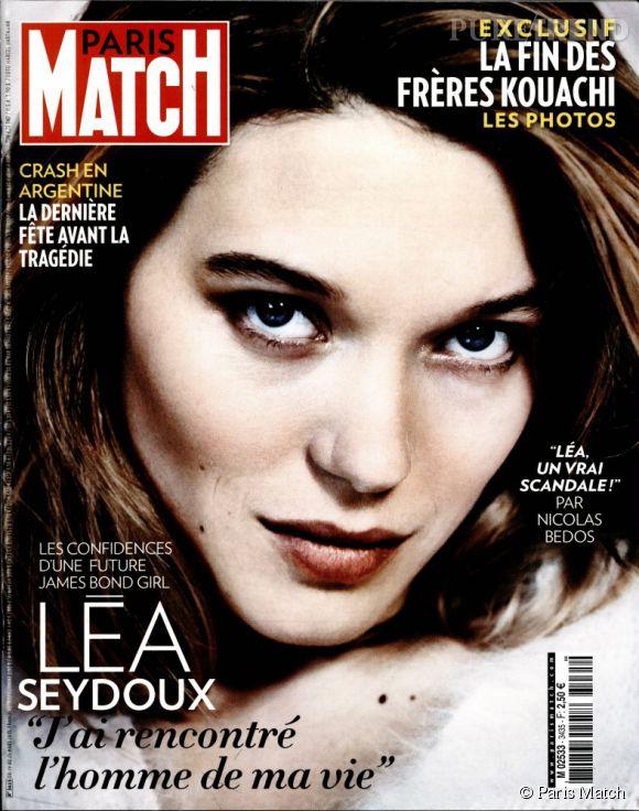 Léa Seydoux se confie sur l'homme de sa vie dans le numéro 3435 de Paris Match.