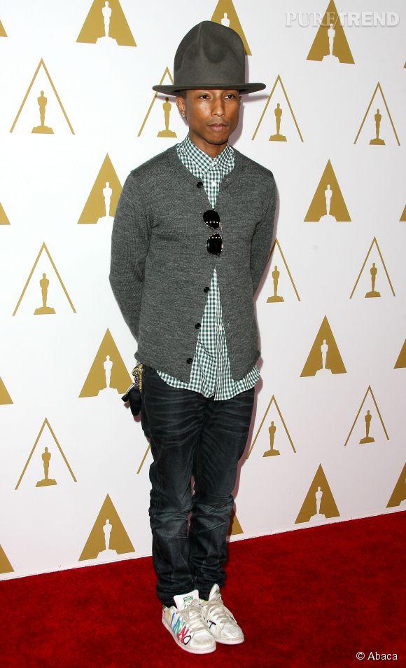 Pharrell Williams, l'icône du style des CFDA 2015.