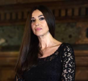 Monica Bellucci, somptueuse madone en dentelle noire
