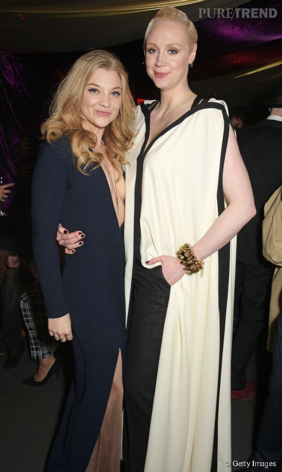 Natalie Dormer, alias Margaery Tyrell, aux côtés de Brienne de Torth.