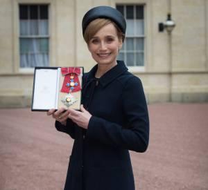 Une bien jolie Lady à Buckingham Palace.