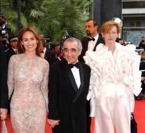 Attention opération robe transparente aux côtés de Martin Scorsese.