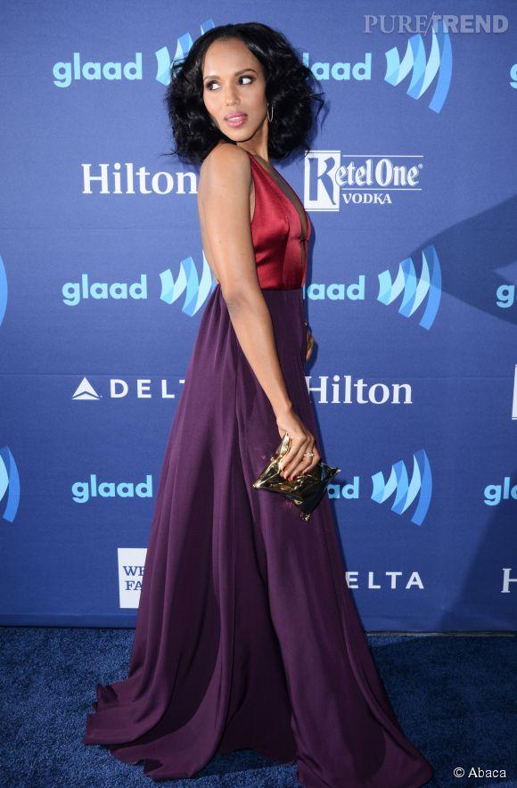Kerry Washington met sa silhouette en valeur dans une robe  Hellessy.