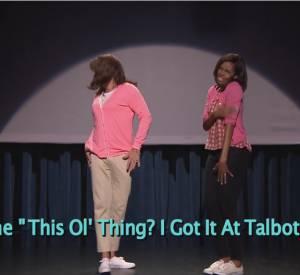 """Michelle Obama nous dévoile la deuxième partie de """"The Evolution of Mom Dancing""""sur le plateau du """"Tonight Show Starring Jimmy Fallon""""."""