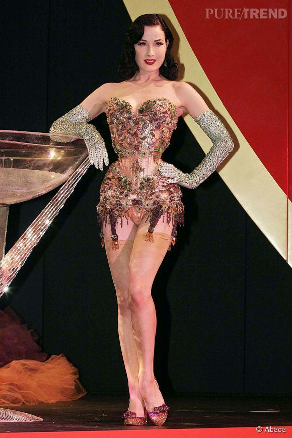 Pin-up des temps modernes, Dita Von Teese est une adepte des corsets.