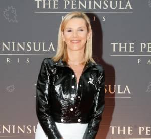 Laurence Ferrari est venue en solo à la soirée d'inauguration du Peninsula.