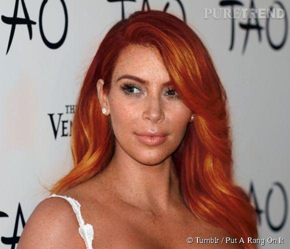 Kim Kardashian arbore un look suprenant mais réussi.
