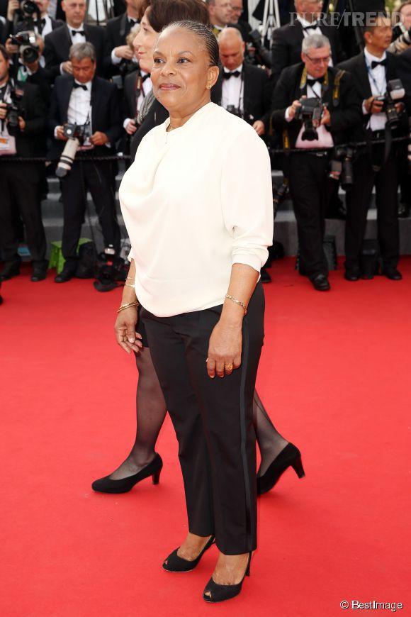 """Christiane Taubira a assisté à la projection de """"La Tête Haute"""", d'Emmanuelle Bercot."""
