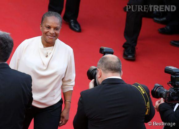 Christiane Taubira a foulé le tapis rouge face aux photographes.